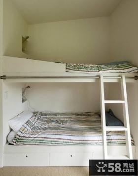 现代卧室双层床效果图