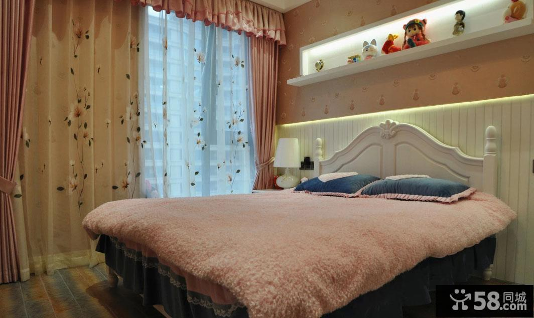 白色卧室灯图片欣赏