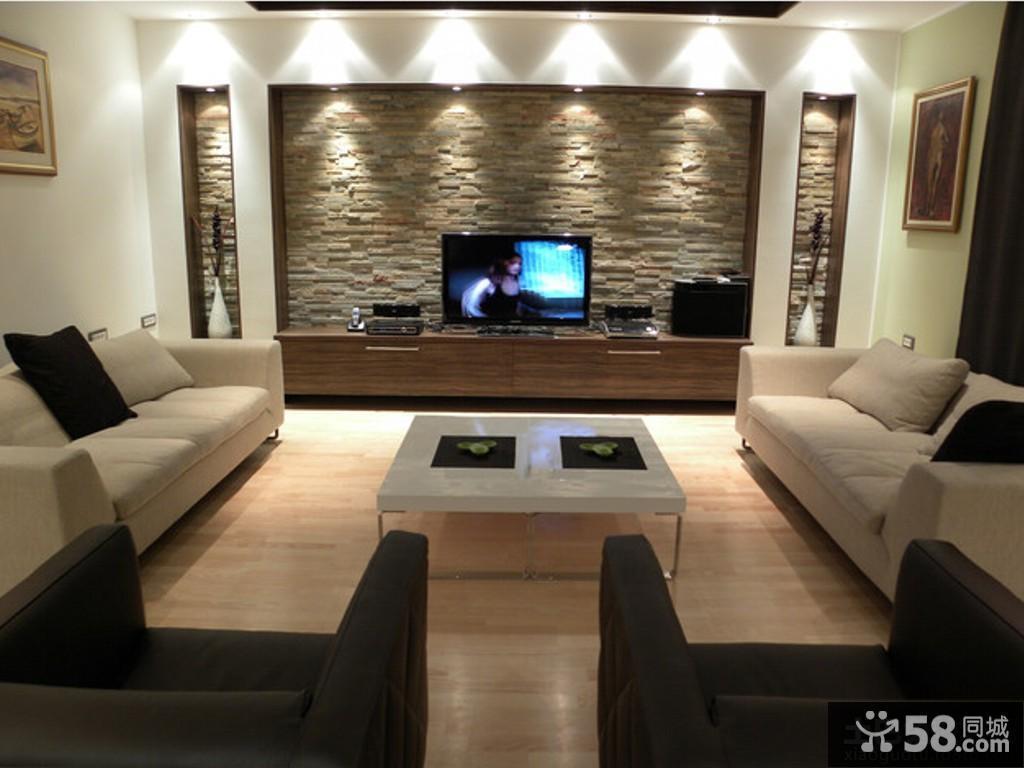 现代奢华电视背景墙