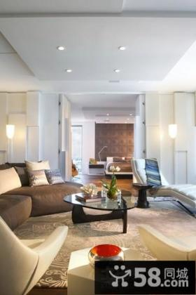 优美温馨的现代欧式风格客厅装修效果图