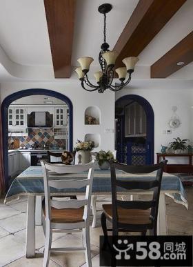 地中海风格餐厅吊顶设计效果图