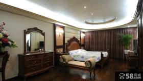 美式卧室布艺窗帘效果图