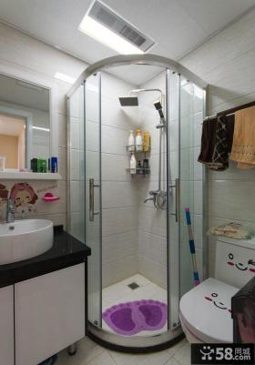 现代简约家庭卫生间设计效果图欣赏