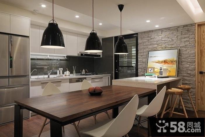 阳台式厨房装修效果图