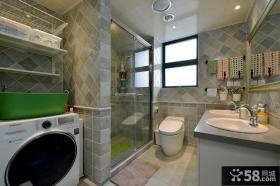 美式现代卫生间设计装修图片
