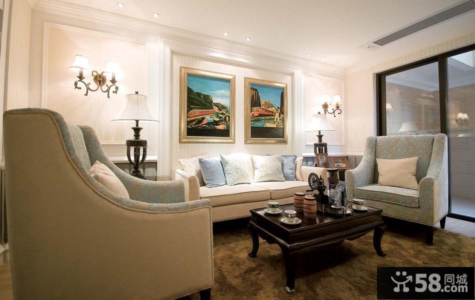 客厅欧式沙发背景墙