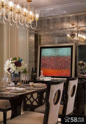 最新欧式公寓家庭餐厅装潢效果图