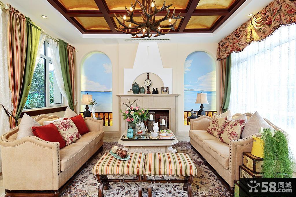 美式乡村风格装修客厅