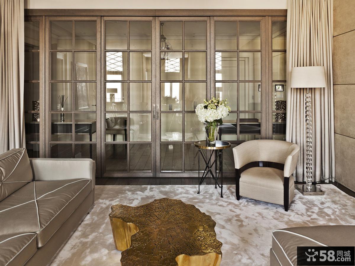 简约新古典风格三居室装修效果图大全