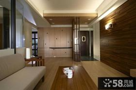 日式风格进门玄关实木装修图片