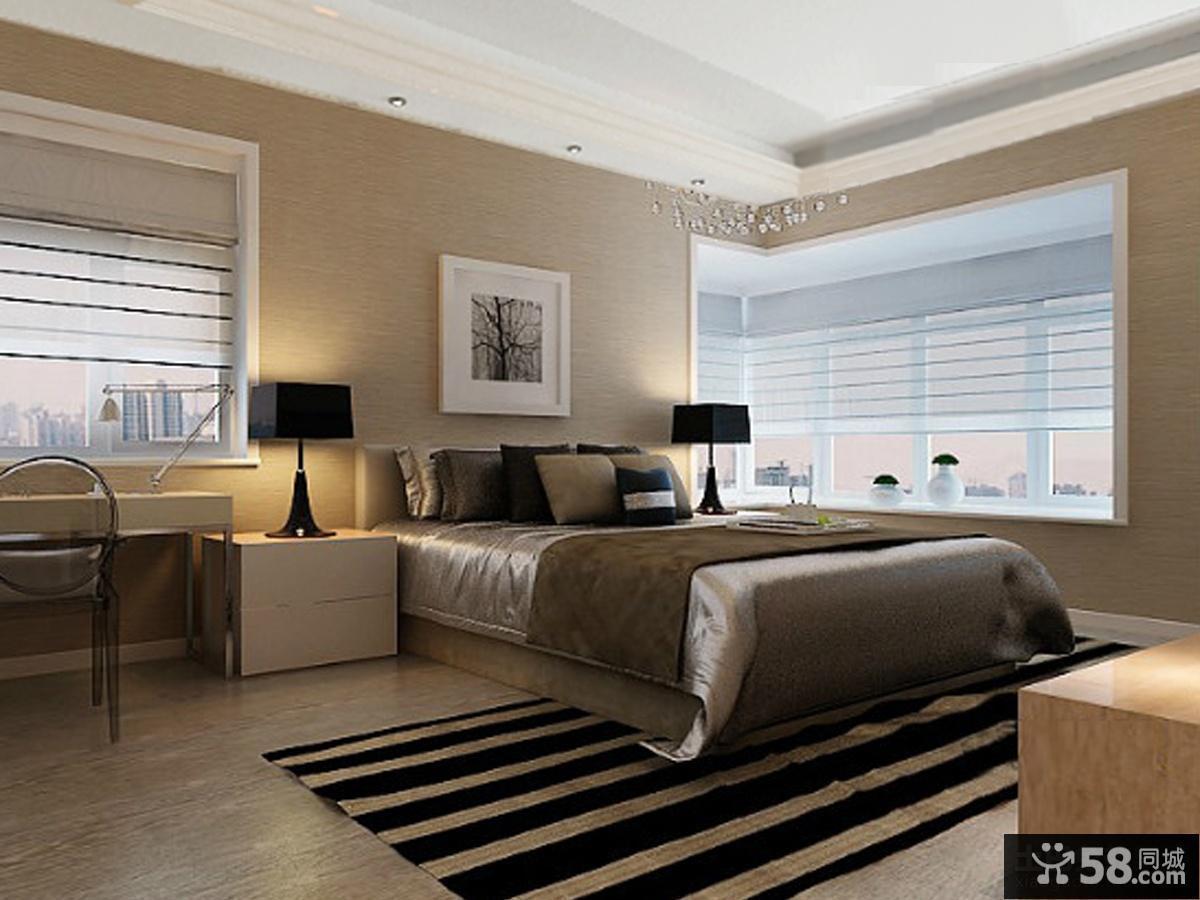 现代卧室效果图大全2013图片