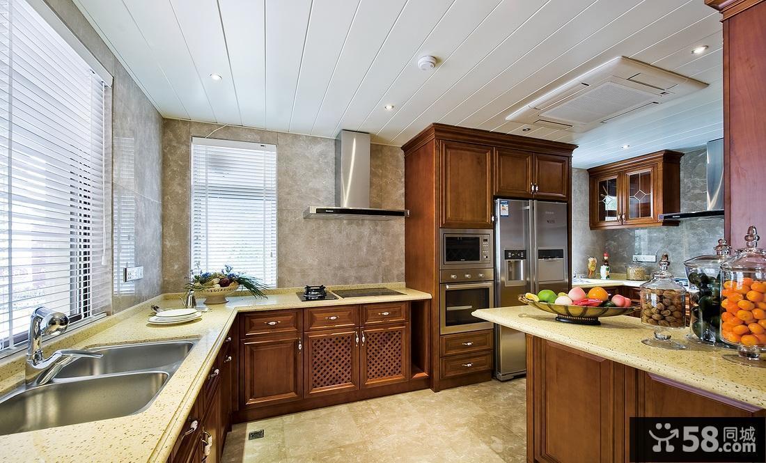u型厨房设计效果图