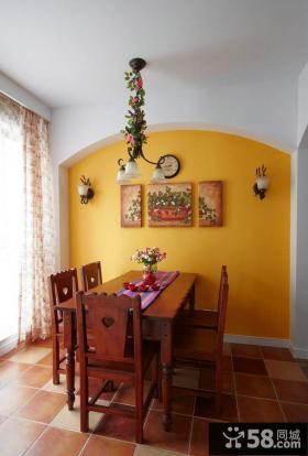 田园风格一居室内餐厅装饰效果图