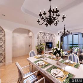 地中海风格餐厅吊灯效果图欣赏