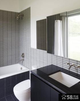 2013最新现代小卫生间瓷砖效果图欣赏