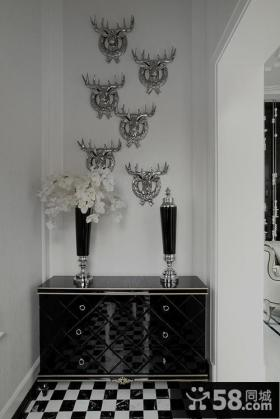 新古典玄关装饰柜效果图片