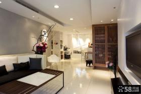 中式风格两居室创意图。