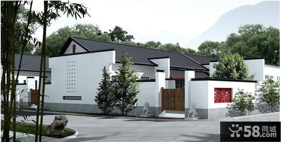 中式风格农村一层房屋设计图