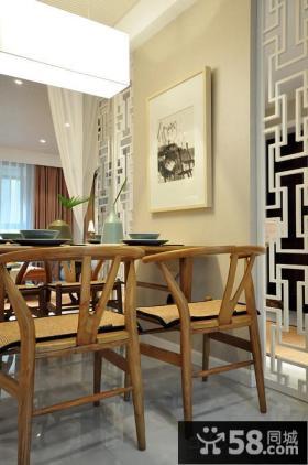 宜家风格餐厅实木家具图片