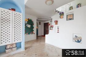 地中海风格室内玄关装修设计图片