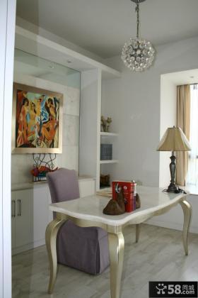 现代欧式两室一厅书房装修效果图片