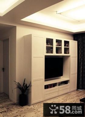简约客厅电视墙装修效果图图片
