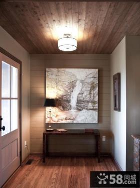 开放式厨房桑拿板吊顶效果图