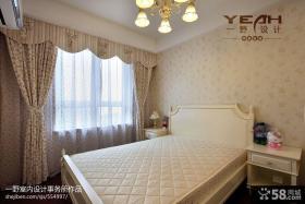 现代主卧室窗帘效果图欣赏