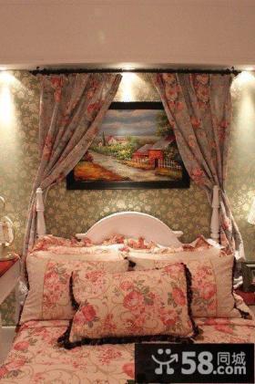田园风格卧室装饰效果图