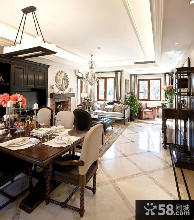 客厅餐厅一体装修设计图