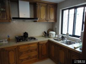 厨房实木橱柜装修效果图欣赏