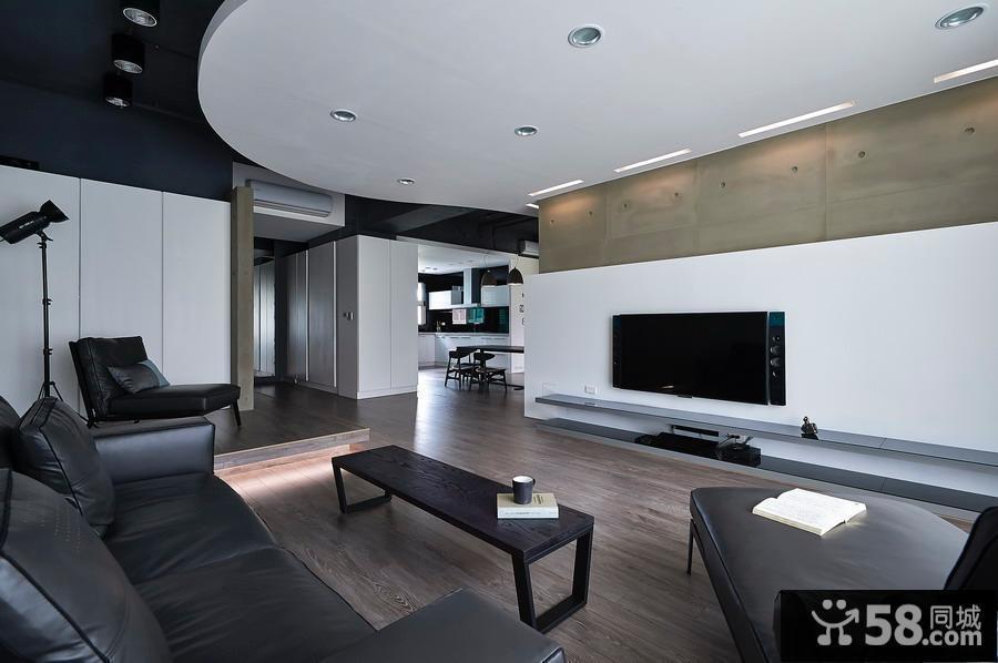 现代客厅简单装修效果图