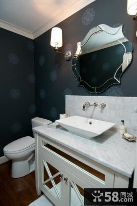 欧式现代风格卫生间壁纸装修效果图2012