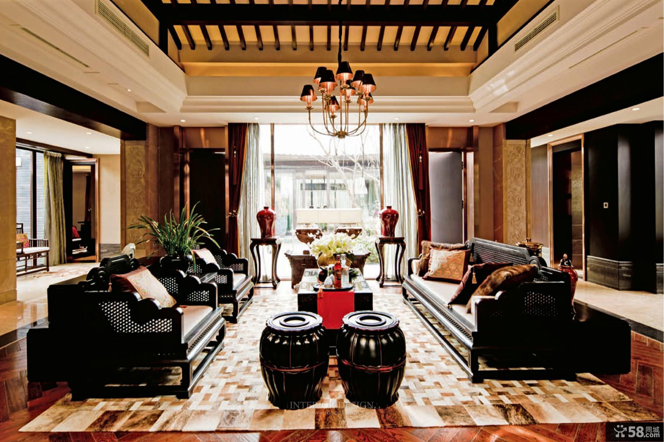 美式风格室内客厅装修效果图