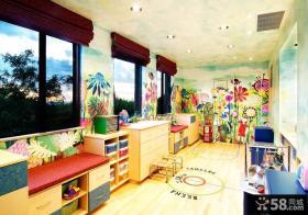 简约儿童房墙绘装修效果图