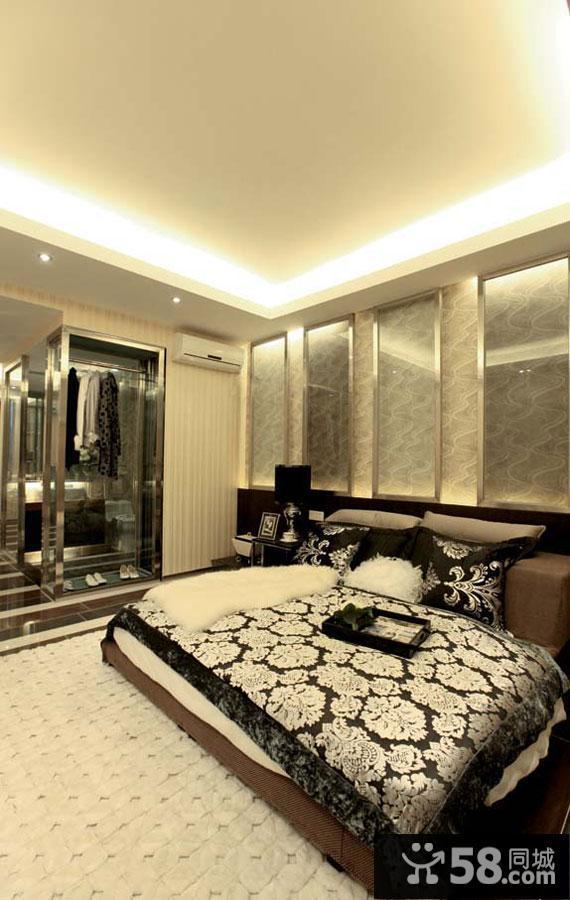 卧室现代吊灯图片欣赏