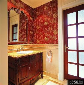 洗手间墙纸效果图片