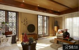 中式风格室内铁窗装修效果图