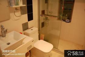 简约型卫生间玻璃隔断图片