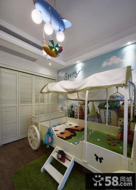 美式简约儿童房设计效果图