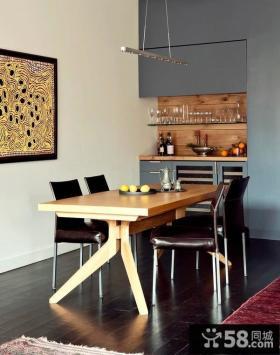 80平小户型家庭餐厅装修效果图