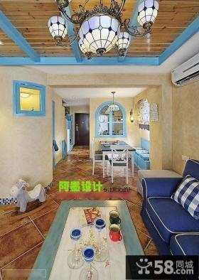 地中海风格客厅整体装修图片
