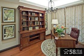 书房书柜窗帘效果图欣赏