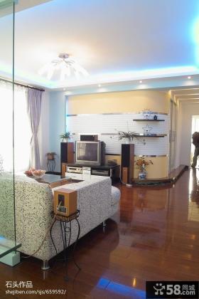 简约风格客厅电视墙装修效果图2013