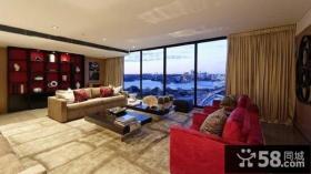 美式奢华别墅客厅效果图