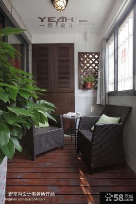 现代美式阳台装修效果图欣赏