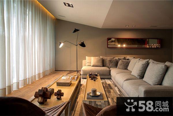 现代简约客厅背景墙