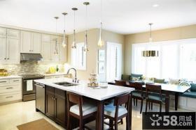 现代时尚装修风格开放式厨房装修效果图
