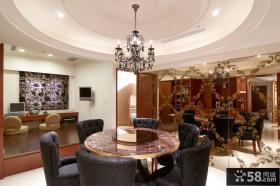 现代欧式三室一厅餐厅装修图片