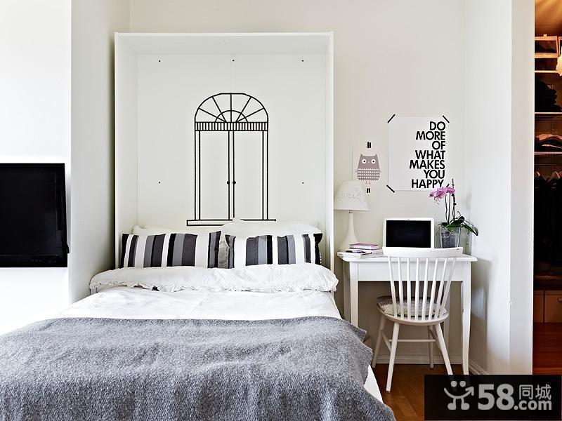 白色卧室壁纸